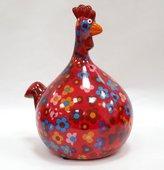 Копилка Маленький Цыплёнок MARIE красная с цветочками Pomme-Pidou 148-00071/5