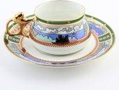 Чашка с блюдцем Деревня на озере, ф. Билибина ИФЗ 81.15225.00.1