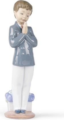 Статуэтка фарфоровая Время молитвы мальчик (Time To Pray) 22см NAO 02001223