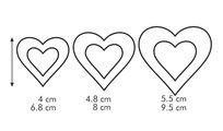 Двухсторонние формочки сердечки, 6 размеров Tescoma Delicia 630862
