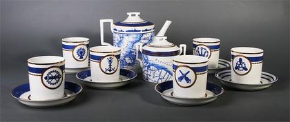 Сервиз чайный 6/14 Кают-компания, ф. Гербовая ИФЗ 81.24029.00.1