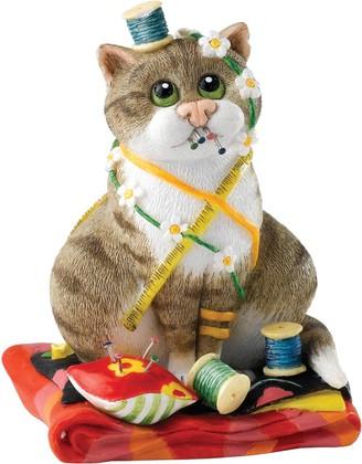 """Enesco - Comic & Curious Cats - """"Шить и шить"""" (Sew'n'sew), высота 10см, артикул A23804"""