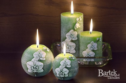 "Свеча ""Орхидея"", колонна 7х14см Bartek Candles 185012"