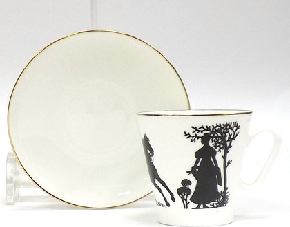 Чашка с блюдцем Всадник, ф. Чёрный кофе ИФЗ 81.16748.00.1
