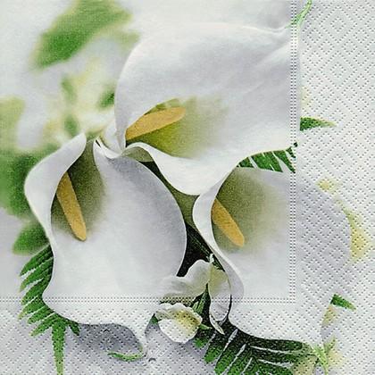 Салфетки для декупажа Букет калл, 33x33см, 3 слоя, 20шт Paper+Design 21701