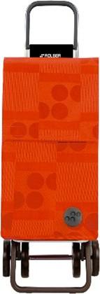 Сумка-тележка хозяйственная оранжевая Rolser DOS+2 PAR015mandarina