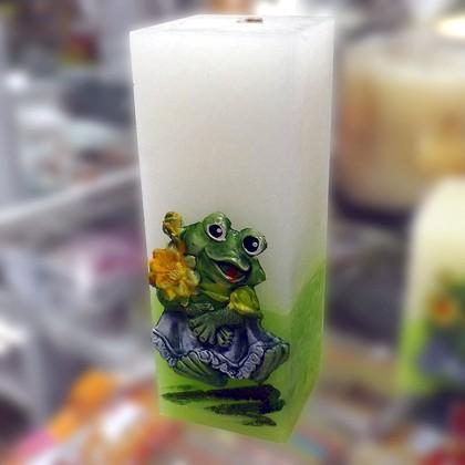 "Свеча ""Лягушка"", блок 6х6х18см Bartek Candles 235022"