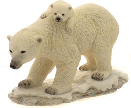 """Статуэтка """"Полярные медведи -надёжный транспорт"""", 17см Widdop Bingham WS0832-TA"""