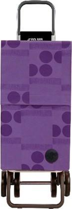 Сумка-тележка хозяйственная фиолетовая Rolser DOS+2 PAR015malva