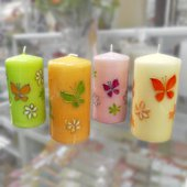 "Свеча ""Мотыльки"", колонна 7х14см Bartek Candles 232012"
