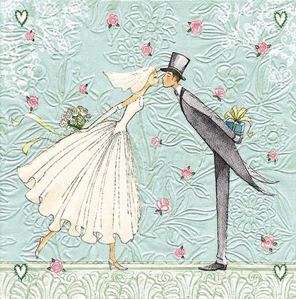 Салфетки для декупажа Жених и невеста, 33x33см, 3 слоя, 16шт Paper+Design 24011