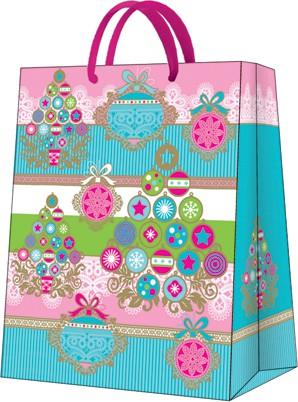 """Пакет подарочный """"Веселое дерево"""" 26.5x33.5x13см Paw AGB025205"""