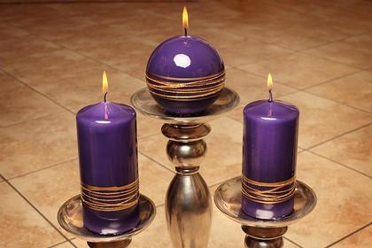 "Свеча ""Золотые кольца"" колонна 7х15cм Bartek Candles 130013"
