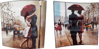 Картина Поцелуй под дождем 58х58см, пара Top Art Studio WDP0264-TA