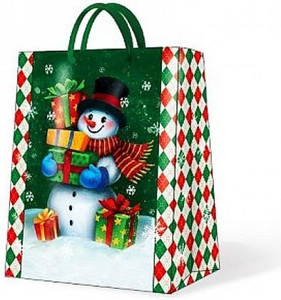 """Paw GALLANT SNOWMAN Пакет подарочный """"Снеговик"""", 26,3x33x13,5см, артикул AGB017105"""