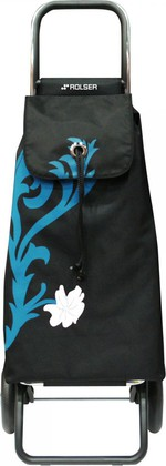 Сумка-тележка хозяйственная фиолетово-чёрная Rolser LOGIC RG PAC067turquesa