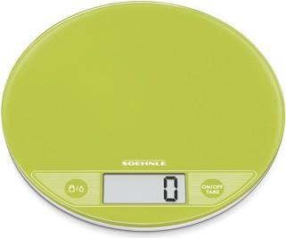 Весы электронные кухонные круглые зелёные 5кг/1гр Soehnle Flip Apple 66186