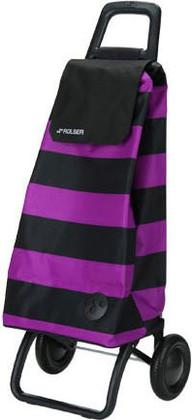 Сумка-тележка хозяйственная фиолетово-чёрная Rolser RG MOUNTAIN MOU053lila/negro
