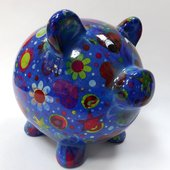 Копилка Свинья PEGGY синяя Pomme-Pidou 148-00025/C