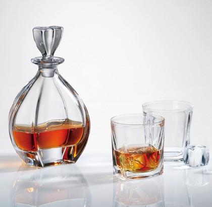 """Набор для виски """"Лагуна"""" графин 950мл + 2 стакана 260мл Crystalite Bohemia 99999/9/99K88/887"""