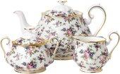 Чайник, сахарница, молочник Английский Ситец 1940е Royal Albert 40017572