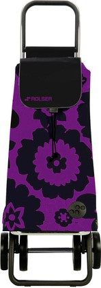 Сумка-тележка хозяйственная фиолетово-чёрная Rolser LOGIC DOS+2 PAC007lila/negro