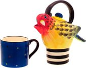 """Чайник заварочный на одного """"Колоритный попугай"""", 17см Jameson & Tailor JT1502"""