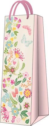 """Пакет подарочный """"Бабочки в цветах"""" 12x37x10см Paw AGB022204"""