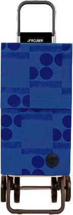 Сумка-тележка хозяйственная синяя Rolser DOS+2 PAR015azul