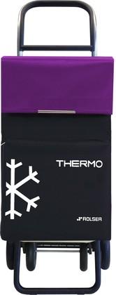 Термосумка-тележка хозяйственная чёрная с фиолетовым Rolser QUATTRE.2 THERMO TER039negro/malva