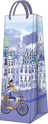 Пакет подарочный Парижский день 12x37x10см Paw AGB1001104