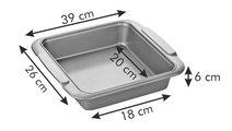 Противень для выпечки квадратный, 26x23см Tescoma DELICIA GOLD 623530