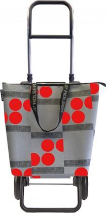 Сумка-тележка хозяйственная серо-красная Rolser LOGIC RG MINI BAG MNB011rojo