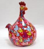 Копилка Маленький Цыплёнок MARIE красная с сердечками Pomme-Pidou 148-00071/6