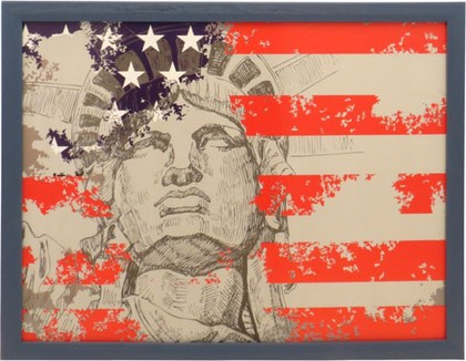 "Поднос с подушкой ""Америка"" 41х31см Top Art Studio HSN0810-TA"