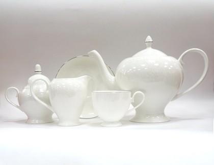 Сервиз чайный Ажур, 6 персон, 15 предм. Top Art Studio LD0913-TA