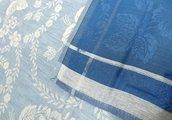"""Скатерть льняная """"Елизавета"""" 150x250см синяя Белорусский лён 12c569/150x250/45/6"""