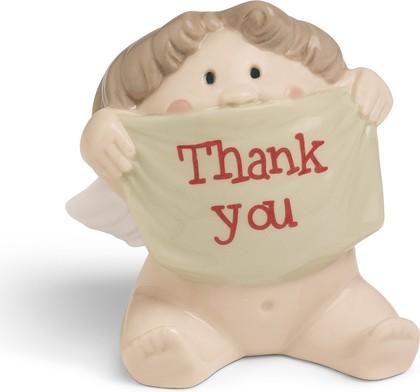 Статуэтка фарфоровая Благодарящий Ангелочек (A Big Thank You) 6.5см NAO 02005066