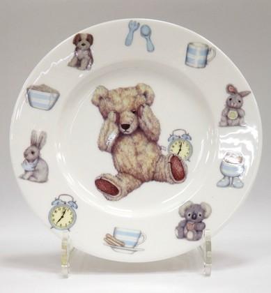 Тарелка для мальчика Время с Тедди, 20см Roy Kirkham XTED1392