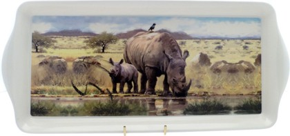 "Поднос средний Макнил ""Носороги"" 39см The Leonardo Collection LP91591"
