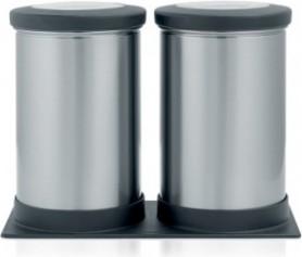 Набор контейнеров с прозрачной крышкой на подставке 1.2л матовая сталь Brabantia 416064