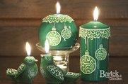 """Свеча """"Новогодние игрушки"""", колонна 6х13см Bartek Candles 150011"""