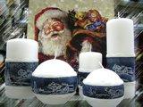 """Свеча """"Снежная"""" колонна 7х20см Bartek Candles 307013"""
