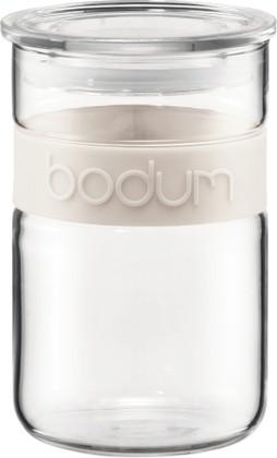 Bodum PRESSO Банка для хранения стеклянная, декор белый, 0,6л, артикул 11129-913