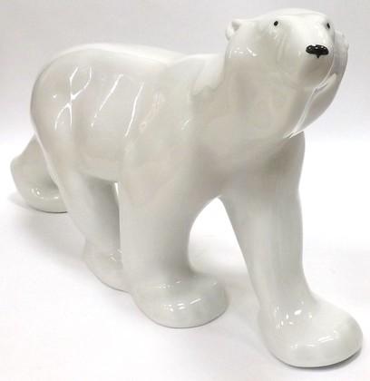 Статуэтка Медведь идущий, 24см, фарфор ИФЗ 82.00998.00.1