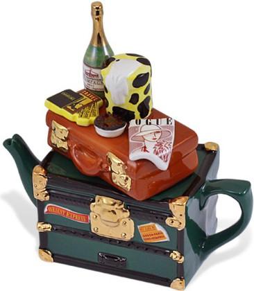 """Чайник коллекционный """"Настольный багаж"""" (Orient Express Teapot) The Teapottery 4443"""