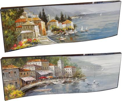 Картина Побережье Италии 29x87см, пара Top Art Studio WDP1118-TA