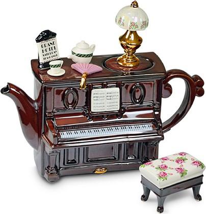 "Чайник коллекционный ""Фортепиано"" (Piano - Tea Dance) The Teapottery 4445"