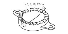 Приспособление для вареников, 4шт Tescoma DELICIA 630880