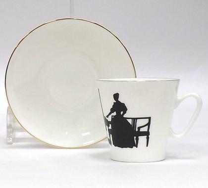 Чашка с блюдцем Вдвоём, ф. Чёрный кофе, 80мл ИФЗ 81.14925.00.1